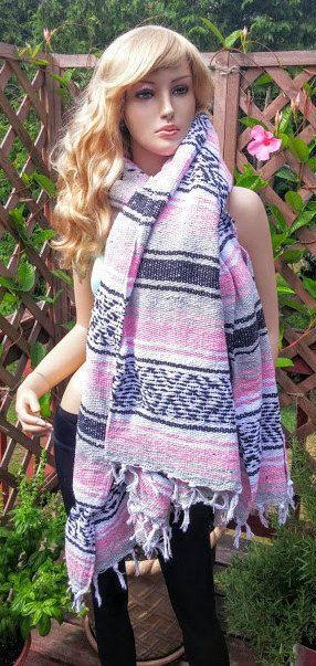 Mexican Serape Blanket Shawl Wrap Scarf Yoga Mat by FashNerds
