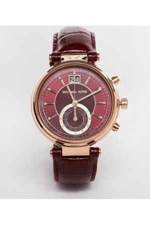 Dames horloges Michael Kors Sawyer Leather MK2426 Watch