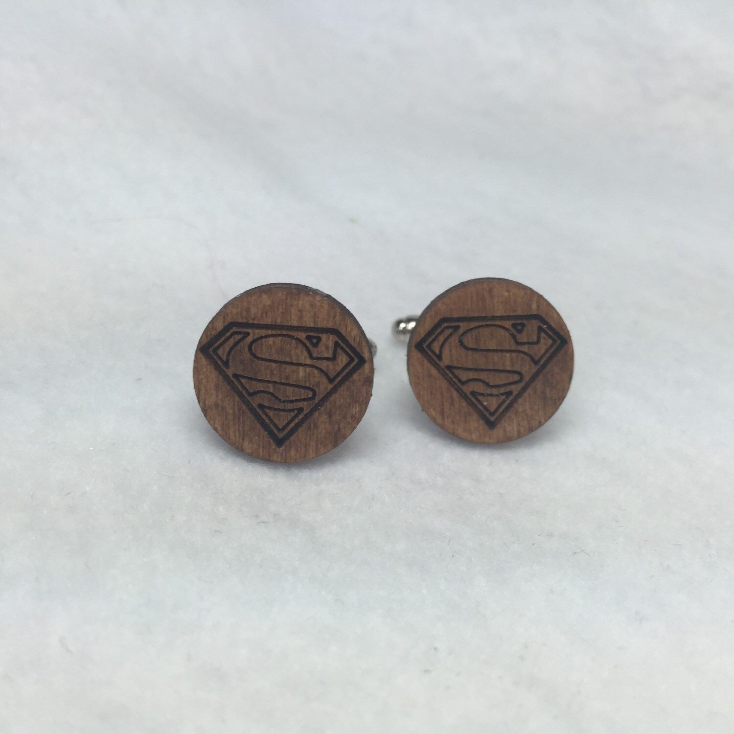 Superman Justice League Cufflinks Wood Superhero Comic Geek Nerd ...