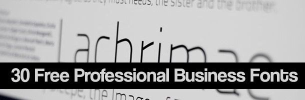 30 free professional business fonts  professional
