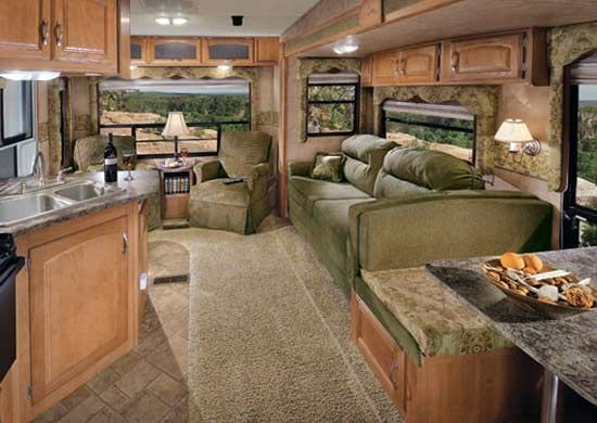 Inside Beautiful Rvs The Picture Below Shows Parts Of Bathroom