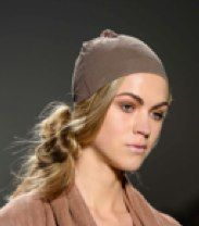 Bohemian side knots by TIGI at Nicholas K during Mercedes Benz New York Fashion Week Spring/Summer 2013 collections.