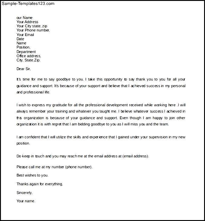 sample formal farewell letter boss example download for bidding - bid letter template