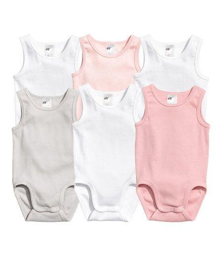 f5b7f1823 6-pack Sleeveless Bodysuits