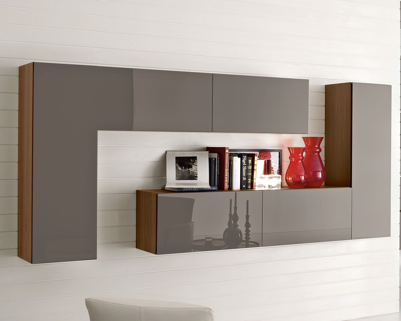 Great Accessories U0026 Furniture,Gorgeous Hanging Shelving Systems With Stunning L  Shaped Wall Mount Storage Bookshelf