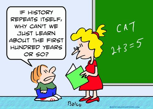 history cartoons | Cartoon: about first hundred history