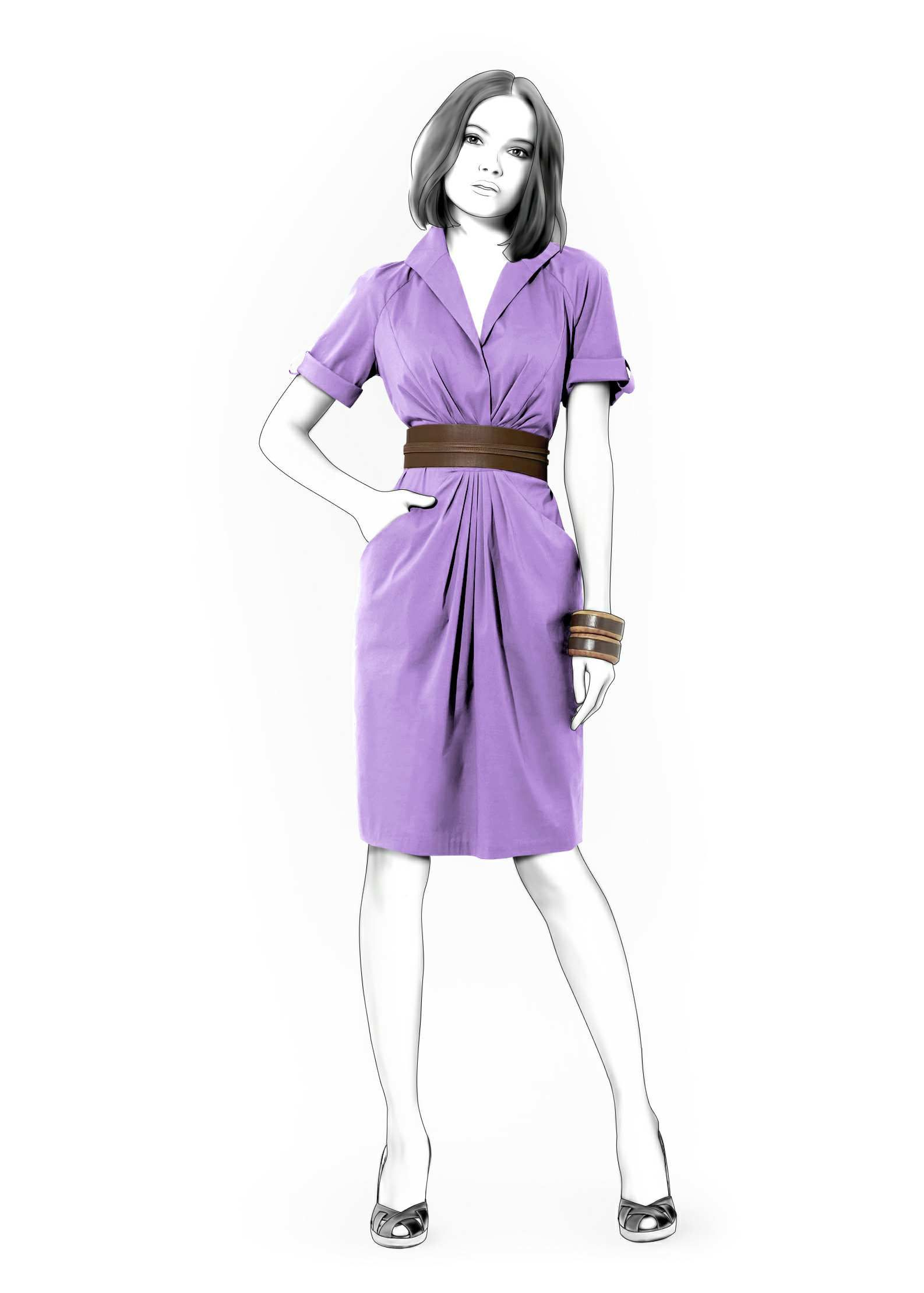Dress With Raglan Sleeves - Sewing Pattern #4160. Made-to-measure ...