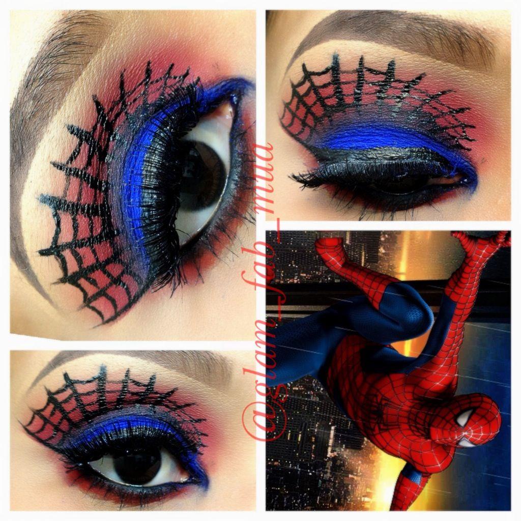 Spiderman Makeup | Beauty | Pinterest | Spiderman makeup ...