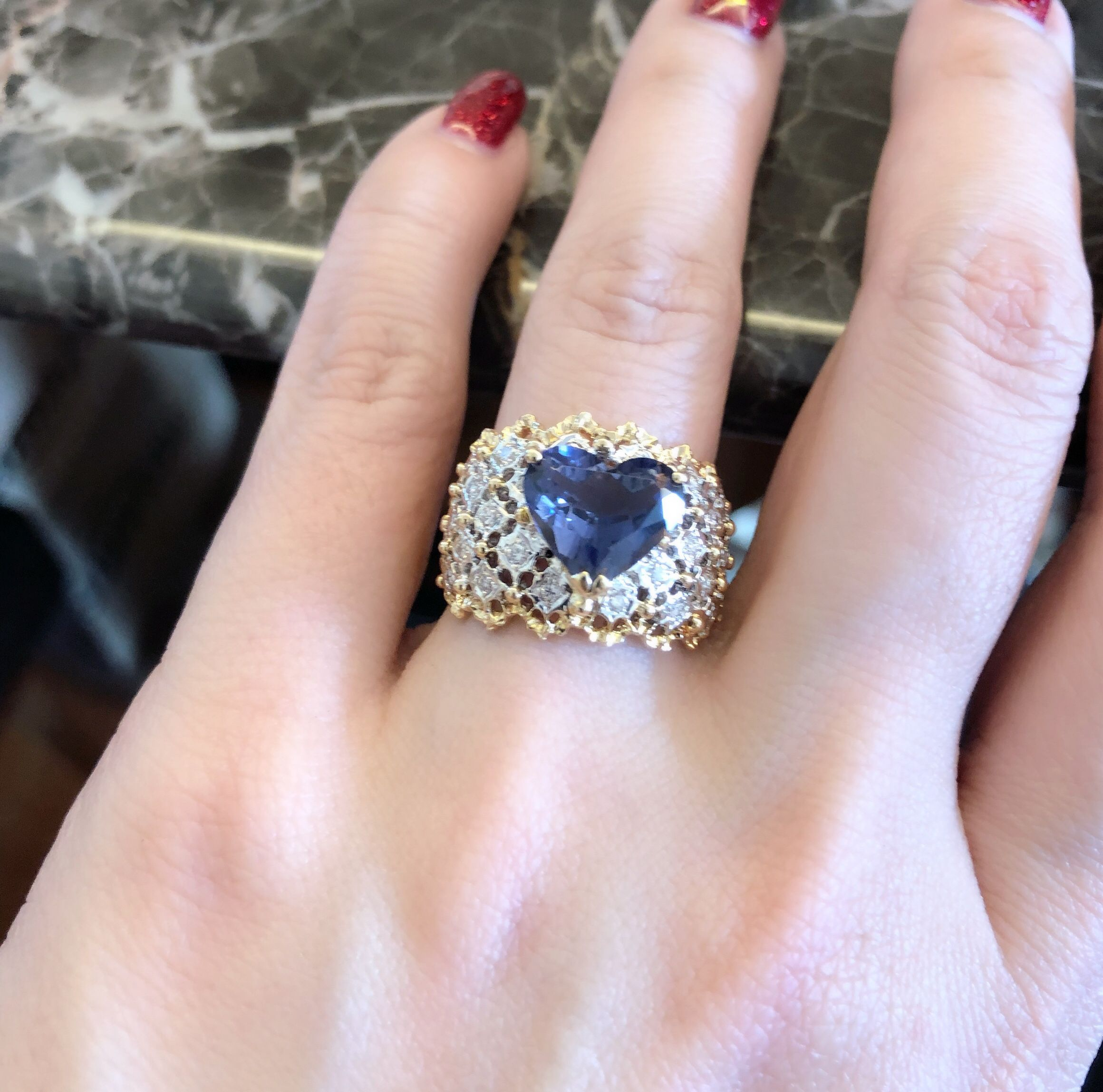 dark diamond engagement promise ring wedding sapphire ayjtooe blue shopping rings designer