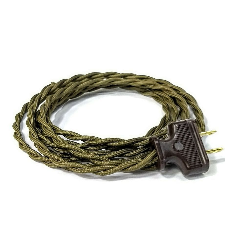 Remarkable Olive Green Cloth Covered Wire Vintage Rewire Kit Lamp Cord Pendant Wiring 101 Cajosaxxcnl