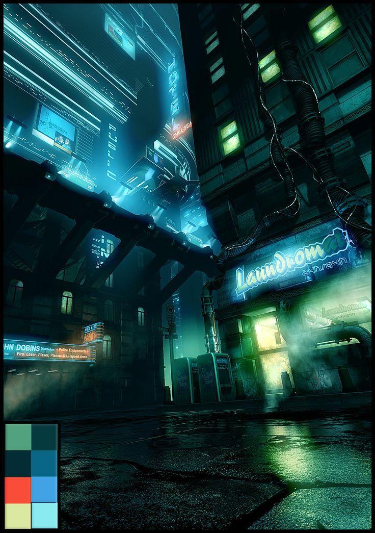 Color Palette Cyberpunk City Futuristic City Sci Fi City