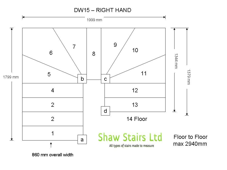 DW15 Double Winder Staircase