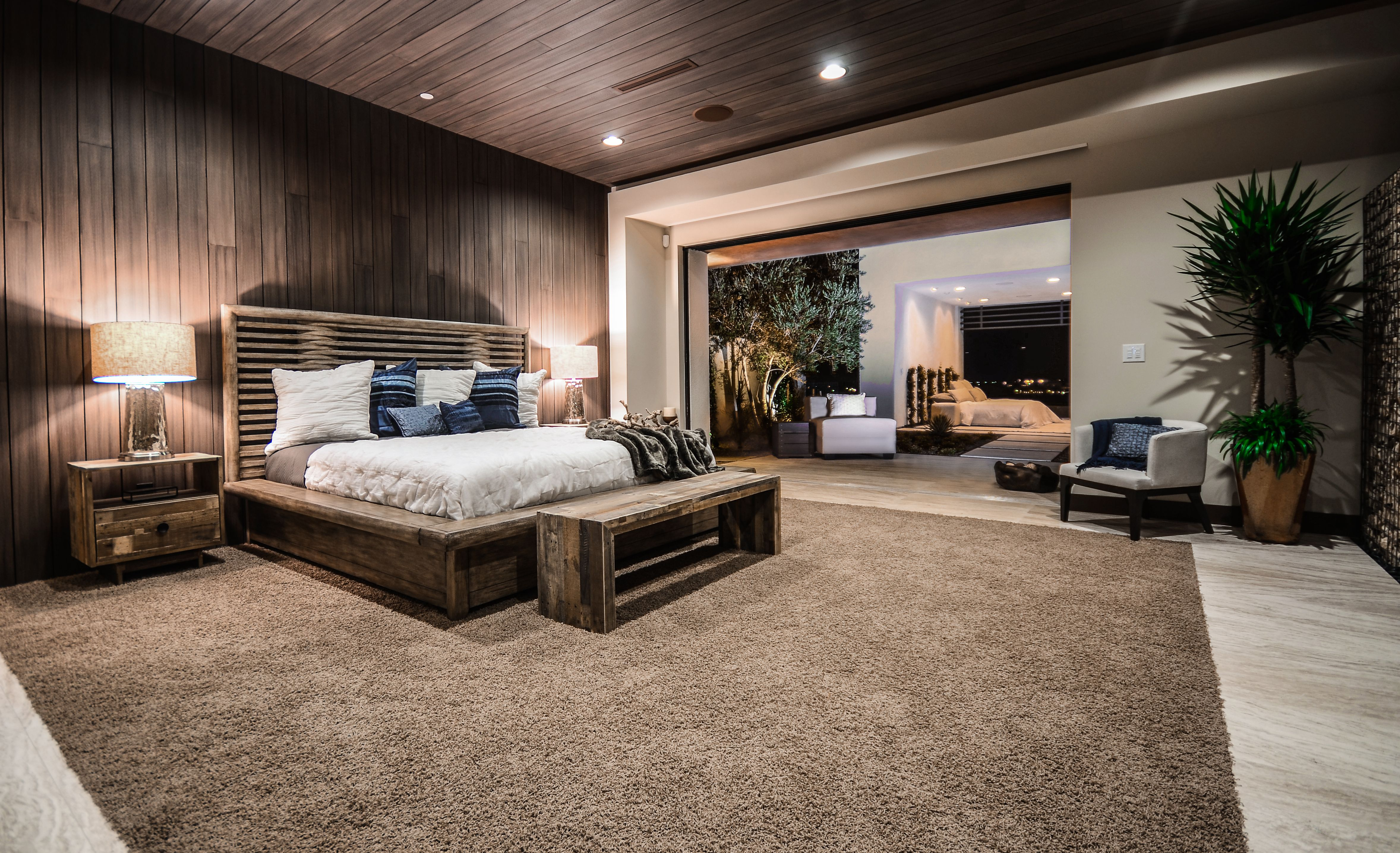 Smart Bedroom  Crestron Lighting And Shading Control