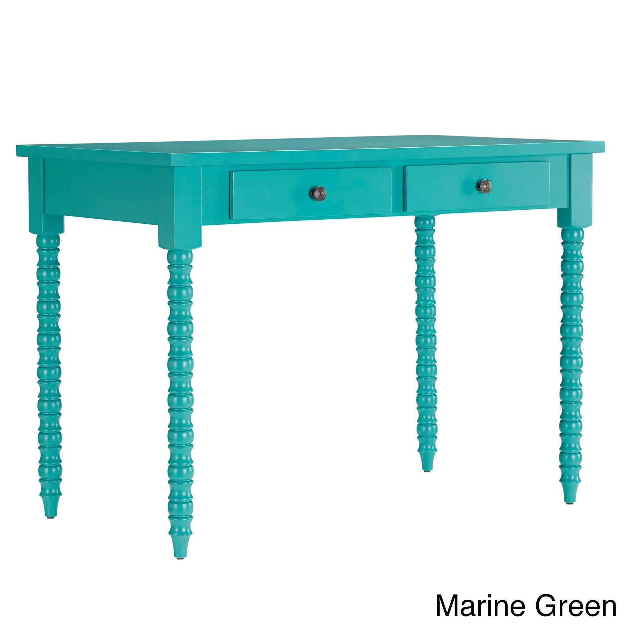 Inspire Q Lyndale 2-drawer Helix Legs Office Desk (Marine Green)