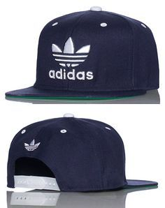 Men's Adidas Trefoil 3D Logo Embroidery Limited Edition Snapback Hat - Black
