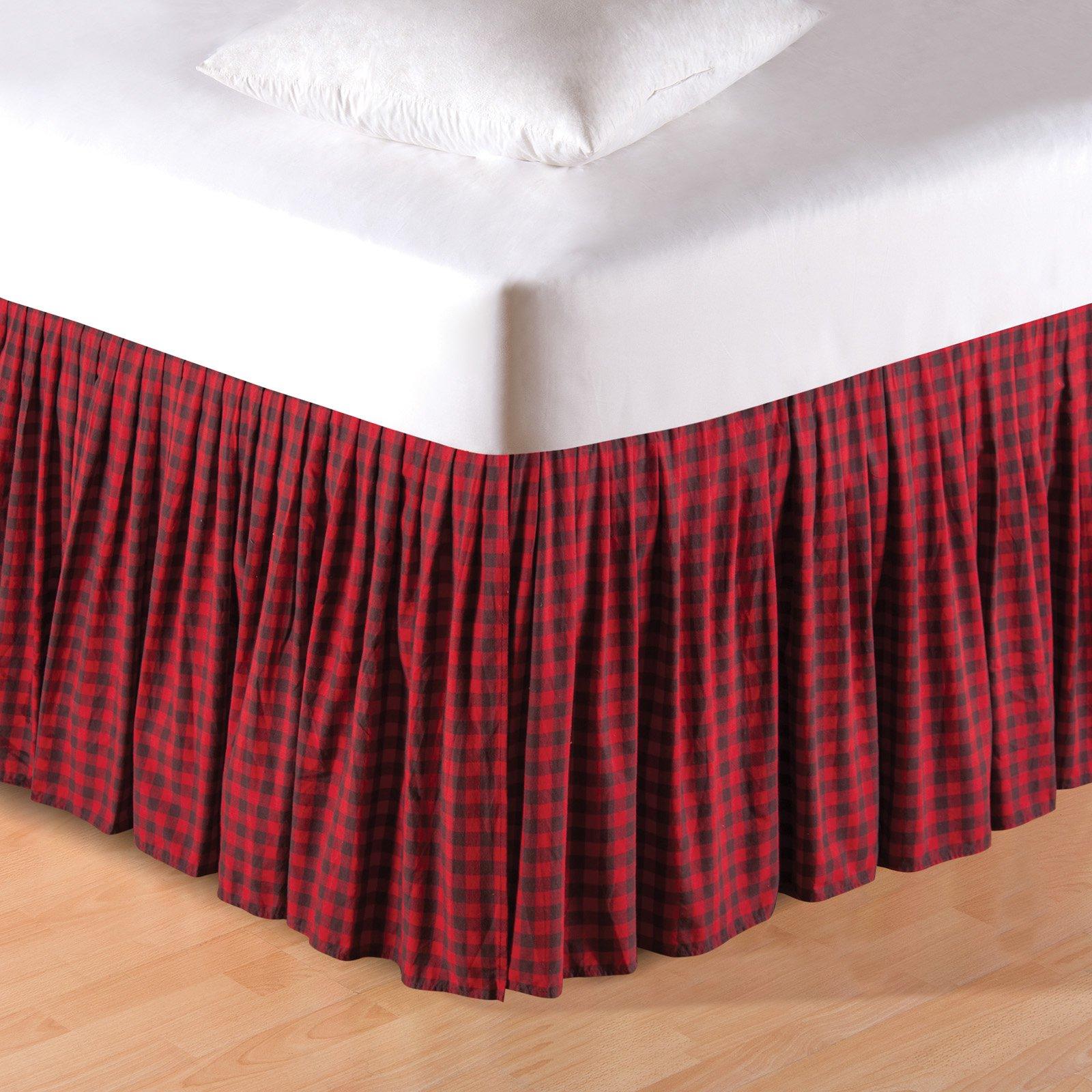 Buffalo Checks Bed Skirt By C F Home Buffalo Check Bedding Dust