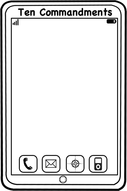 Template For 10 Commandment IPhone