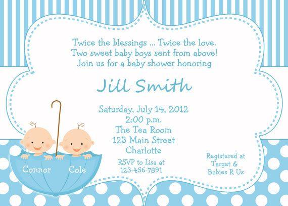 76049f6ae5c09 Invitación para baby shower de mellizos para imprimir - Imagui ...