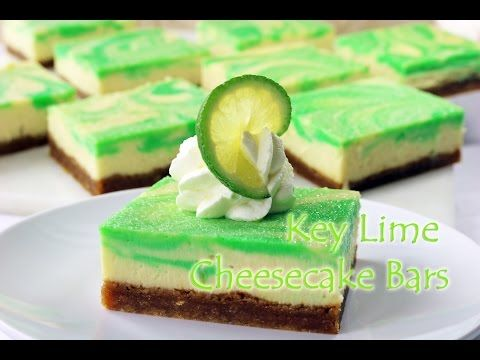 Key Lime Cheesecake Bars - Gretchen's Bakery