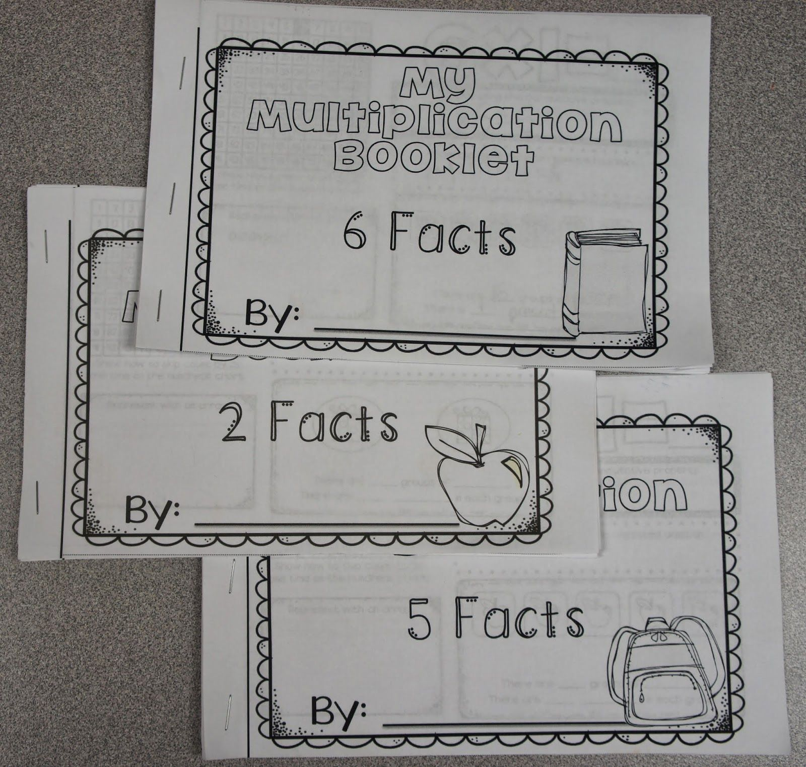 Get A Multiplication Fact Booklet For All Of The 2 Facts