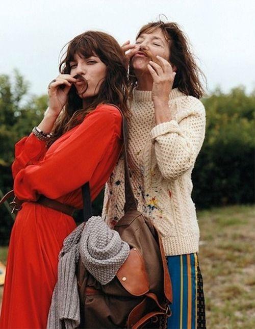 Lou Doillon and Jane Birkin