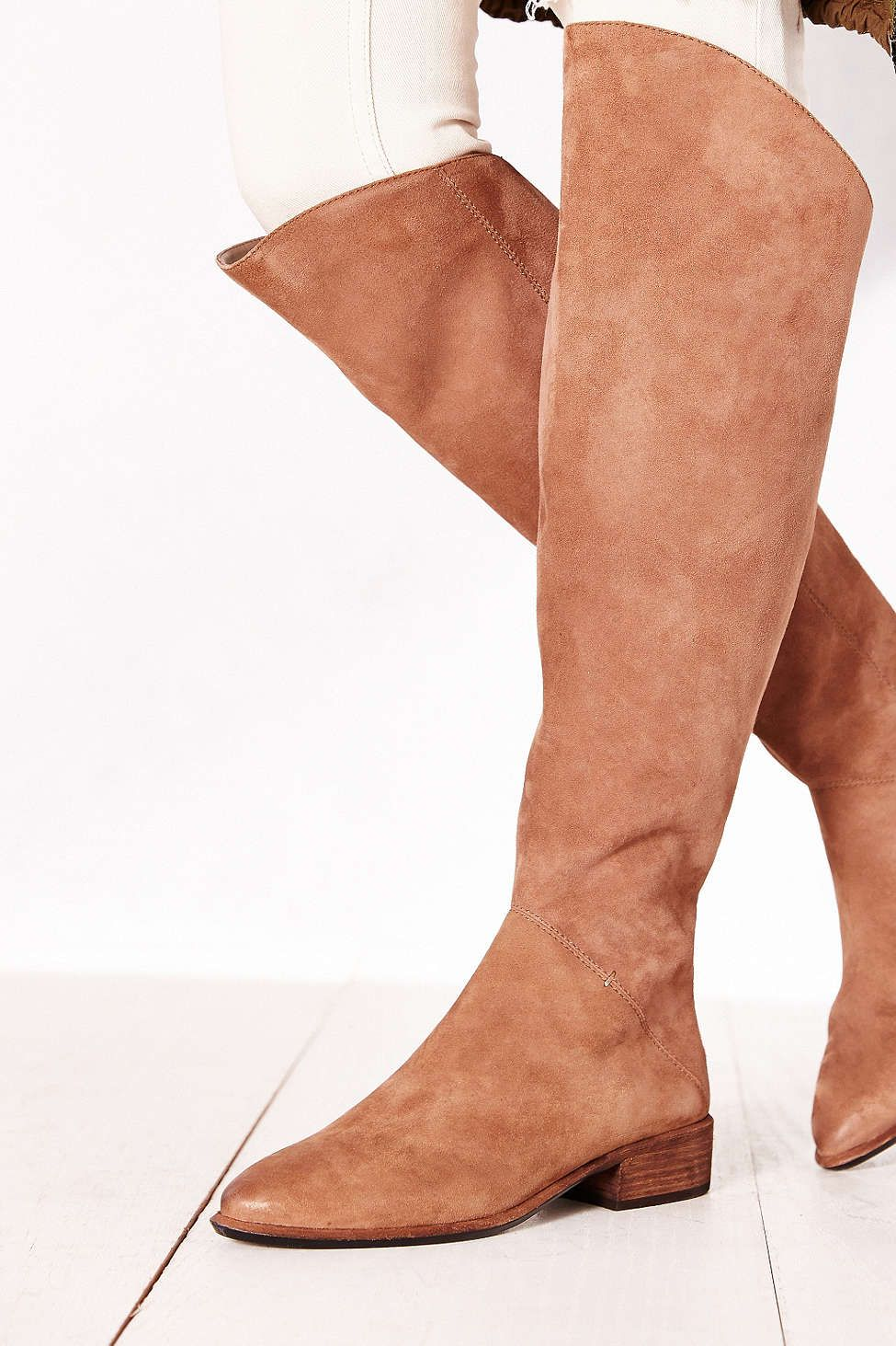 Dolce Vita Meris Back-Zip Suede Tall Boot