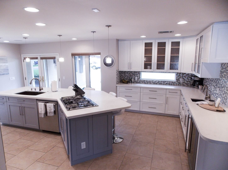 Kitchen Bright White Cabinets Pigeon Grey Island Kitchens