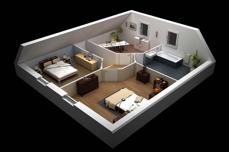 Modèle de #maison Adhara Vue intérieure Projets de construction - modele de construction maison