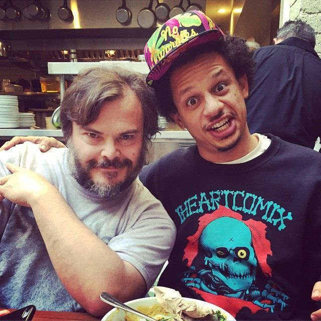 Eric Andre & Jack Black Reppin' A No Worries Global Hat