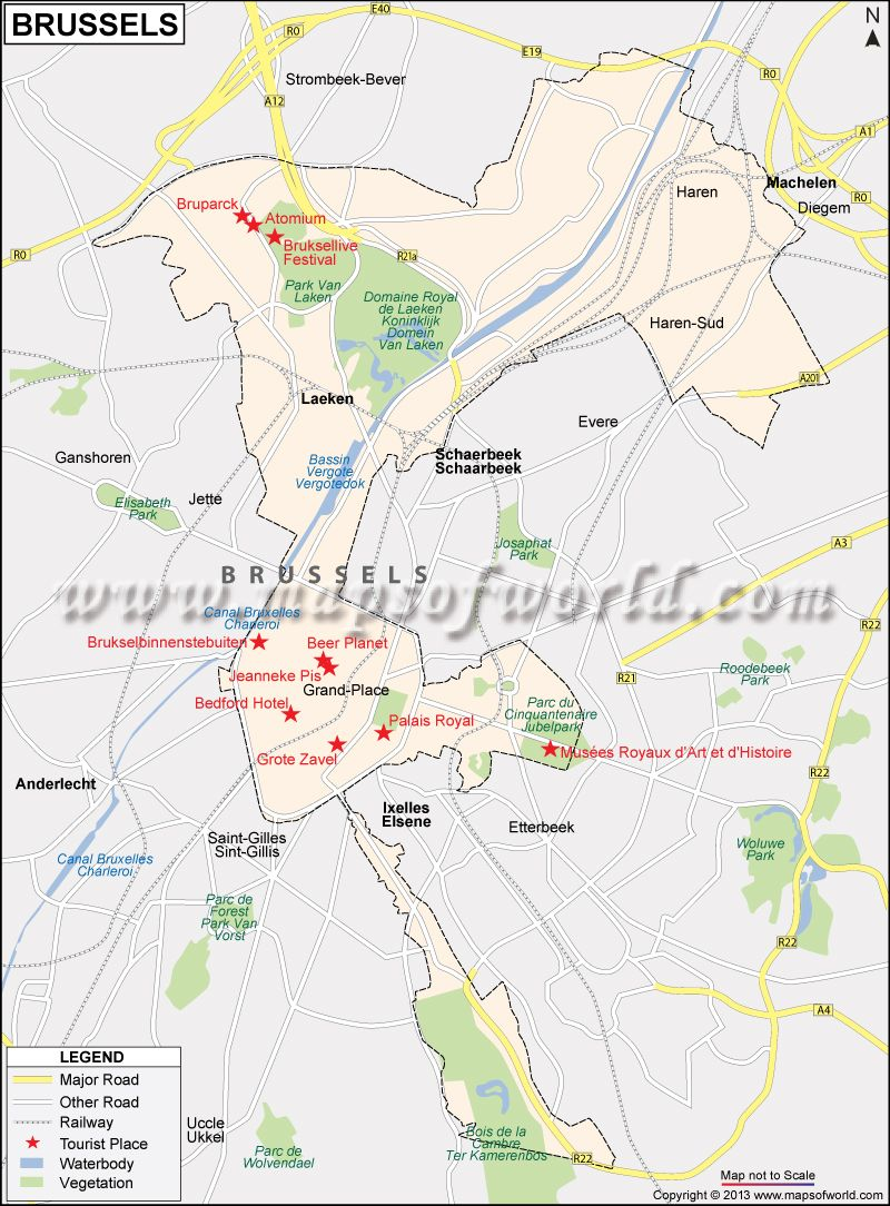 Brussels city map Belgium httpwwwmapsofworldcombelgium