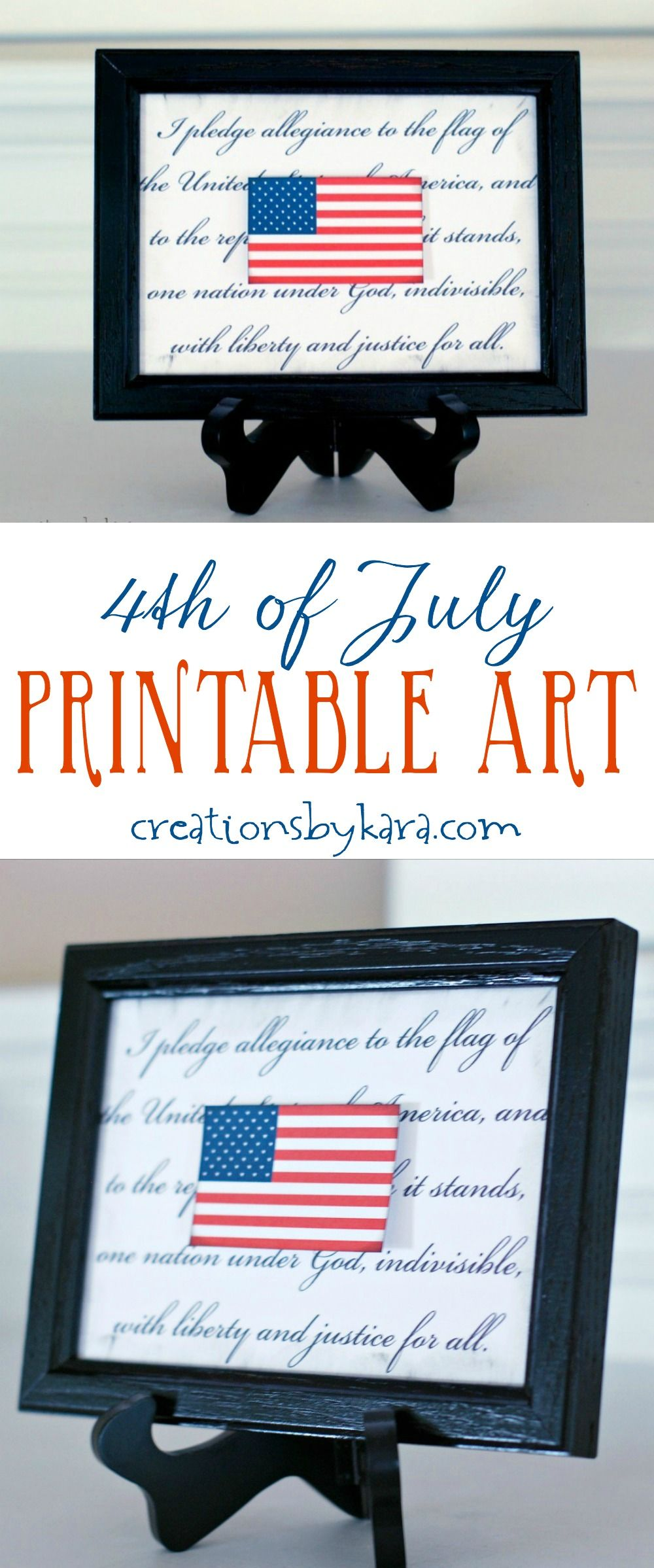 This printable flag makes for quick and easy 4th of July decor! Free ...