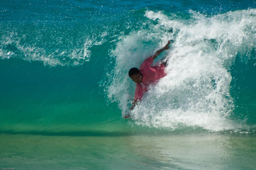 Contestant In Sandy Beach Bodysurfing Championships 2006