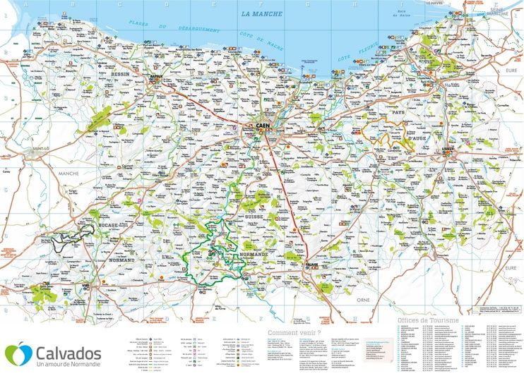 Large detailed map of Calvados Maps Pinterest Normandy and France
