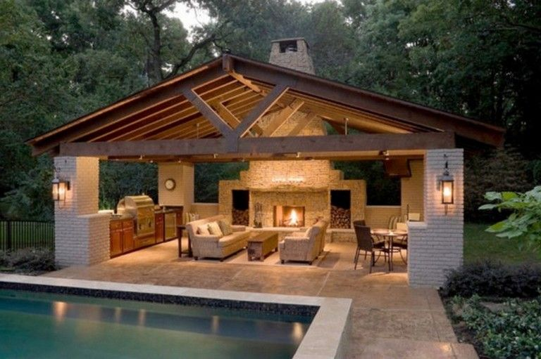 10 Fantastic Pool House Decorating Ideas On A Budget Homedecorideas Homedesign Homedecoration Backyard Pavilion Patio Design Outdoor Living Rooms