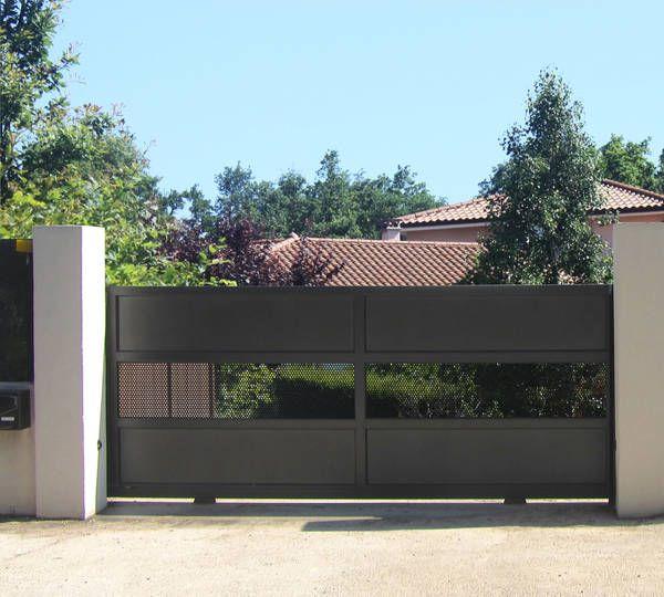 pingl par les portaliers portails alu sur portail alu contemporain plein pinterest portail. Black Bedroom Furniture Sets. Home Design Ideas