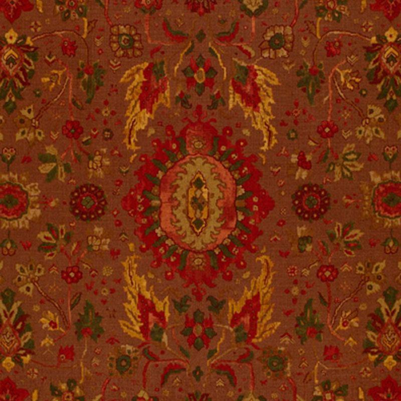 172791 Jahanara Carpet Spice Brown Schumacher Fabric In 2020 Schumacher Fabric Carpet Fabric