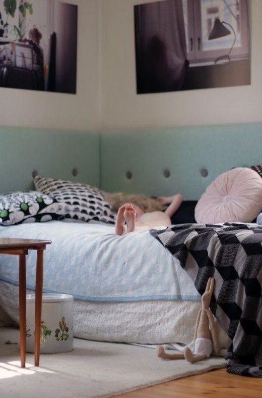 Gör en enkel sänggavel Sänggavel, Barnrum och Sovrum