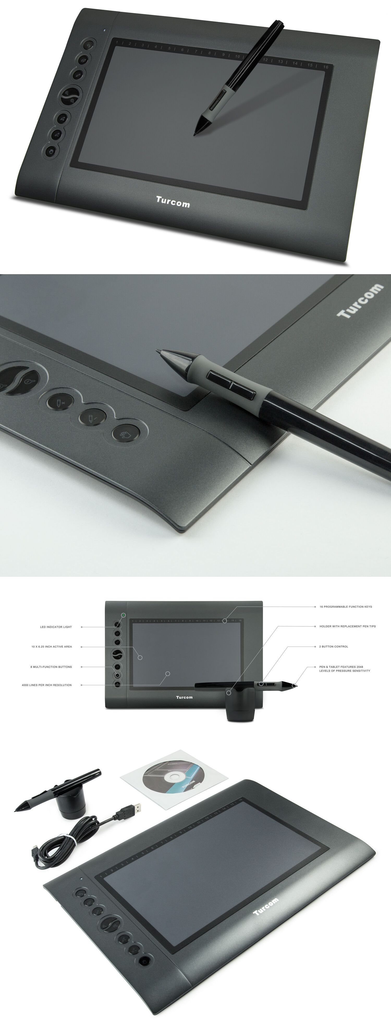 Turcom Graphic Tablet Drawing Tablets And Pen Stylus For Pc And Mac Computer Drawing Tablet Digital Drawing Tablet Mac Computer