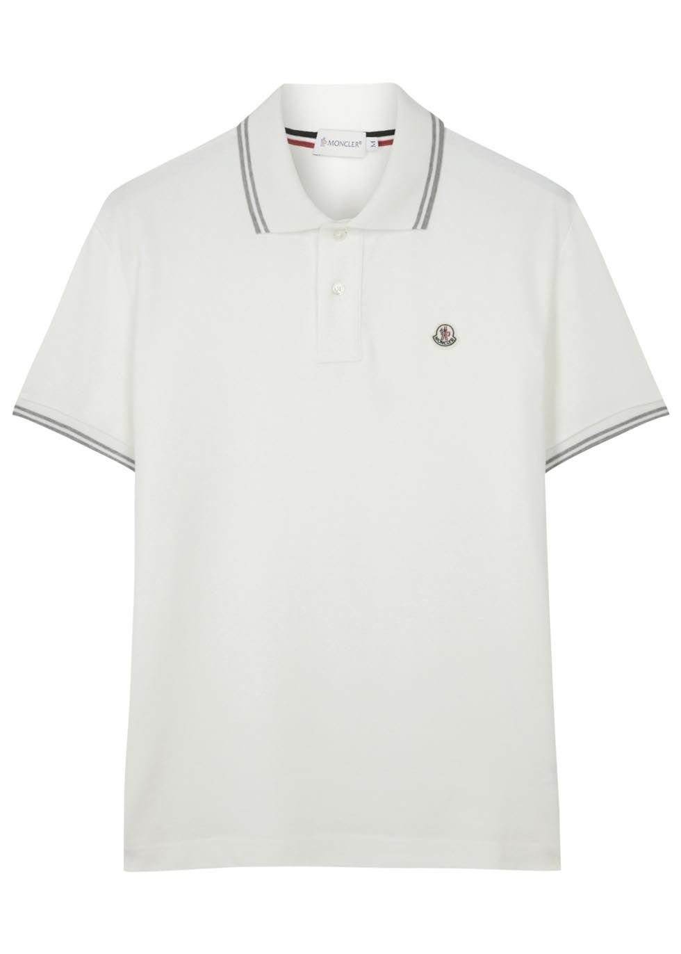 ab571449 Moncler cream cotton polo shirt | Men's New In | Polo, Moncler, Mens ...