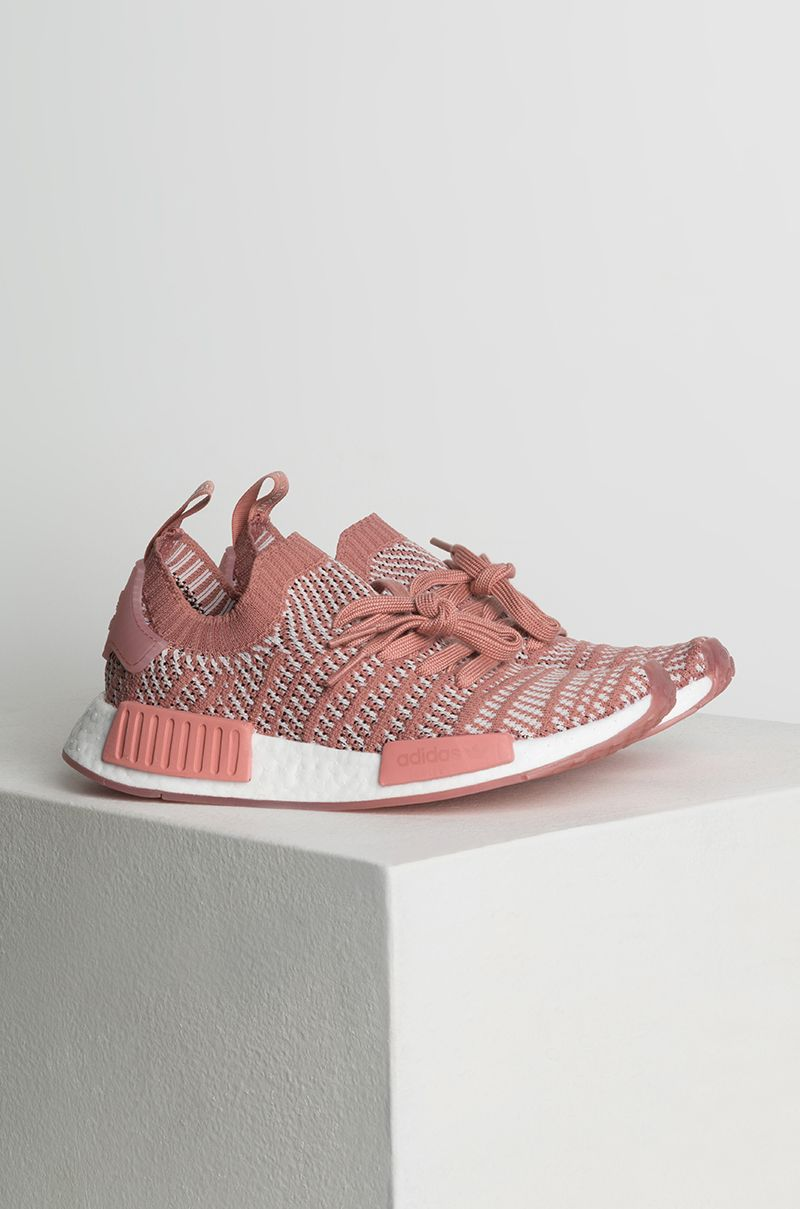 Adidas Women S Nmd R1 Stlt Primeknit Sneakers In Pink Orctin White