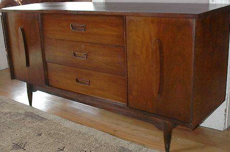 Credenza By Garrison Furniture Dark Walnut Mid Century Vintage