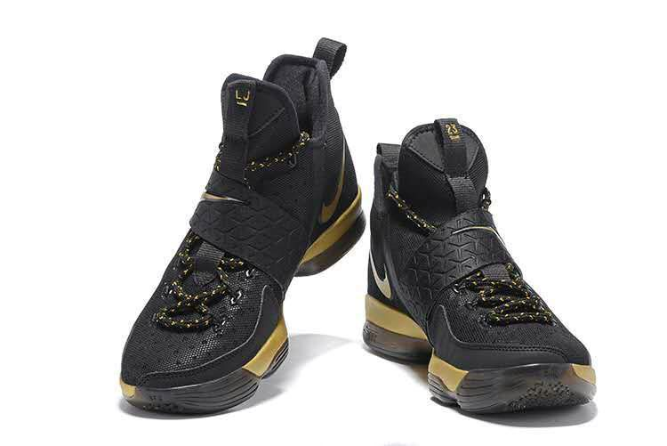 official photos 3bb61 9e361 How To Buy LeBron 14 XIV Black Gold Championship 2017 Lebron James Sneakers  Mens Basketball Shoes