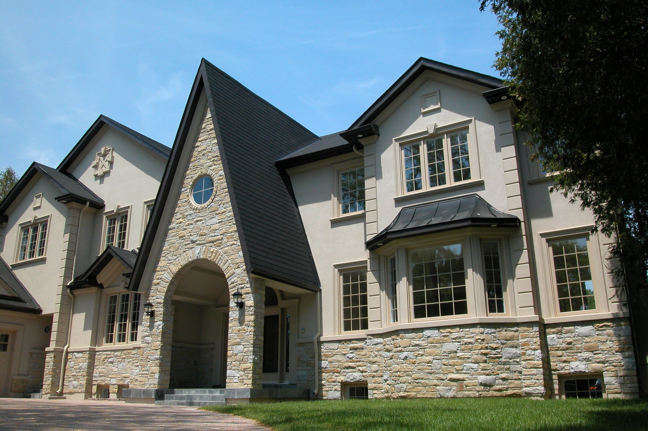 stucco and stone home designs - house design plans