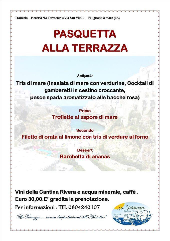 POLIGNANO A MARE (città di Domenico Modugno) Ristorante la Terrazza ...