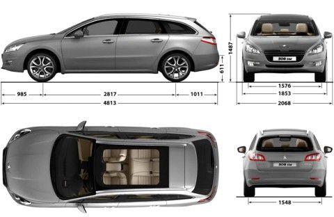 dimensioni Peugeot 508 sw Prezzi e dimensioni Auto