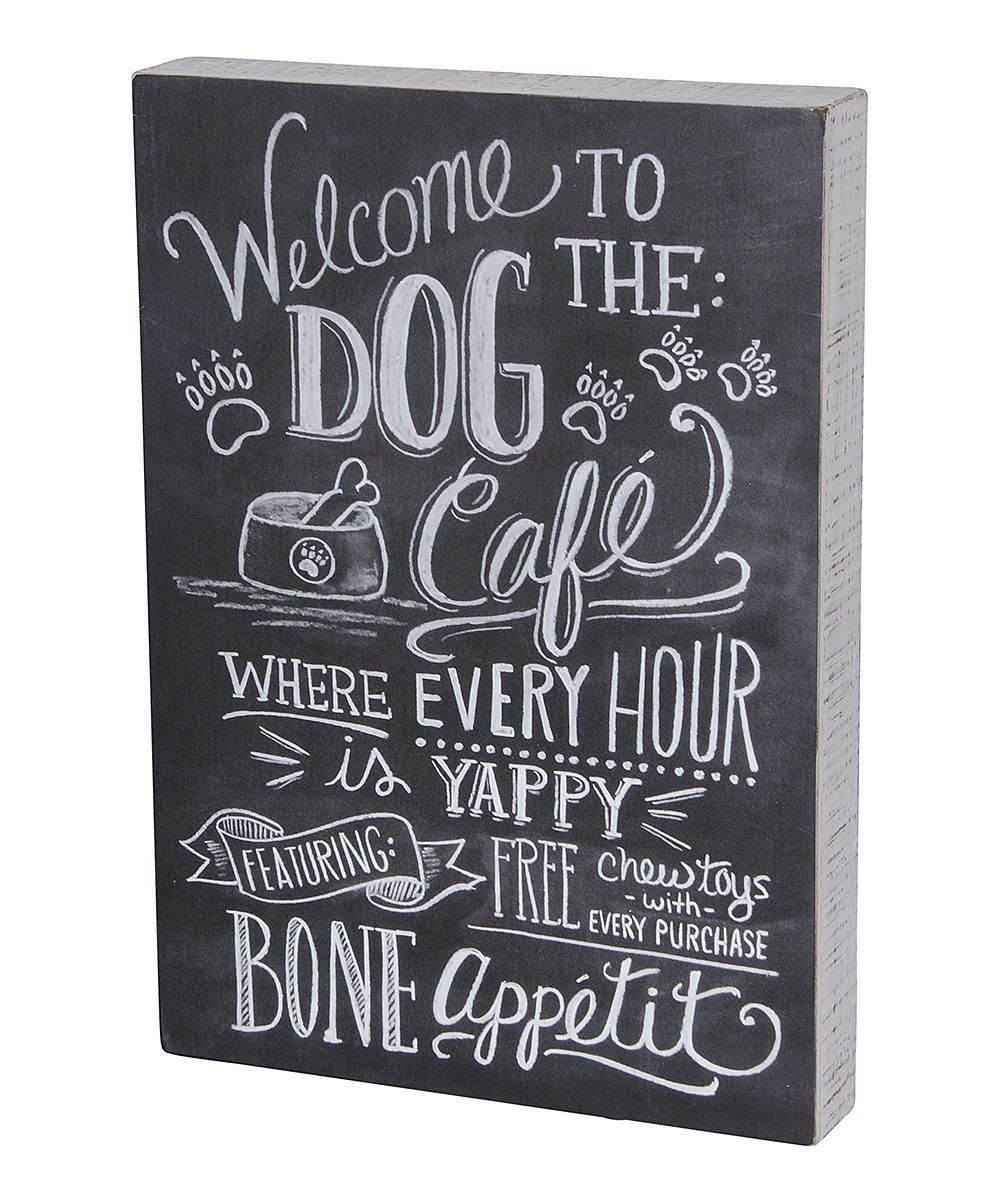 'Dog Caf' Wall Sign. This would be cute hanging above ...