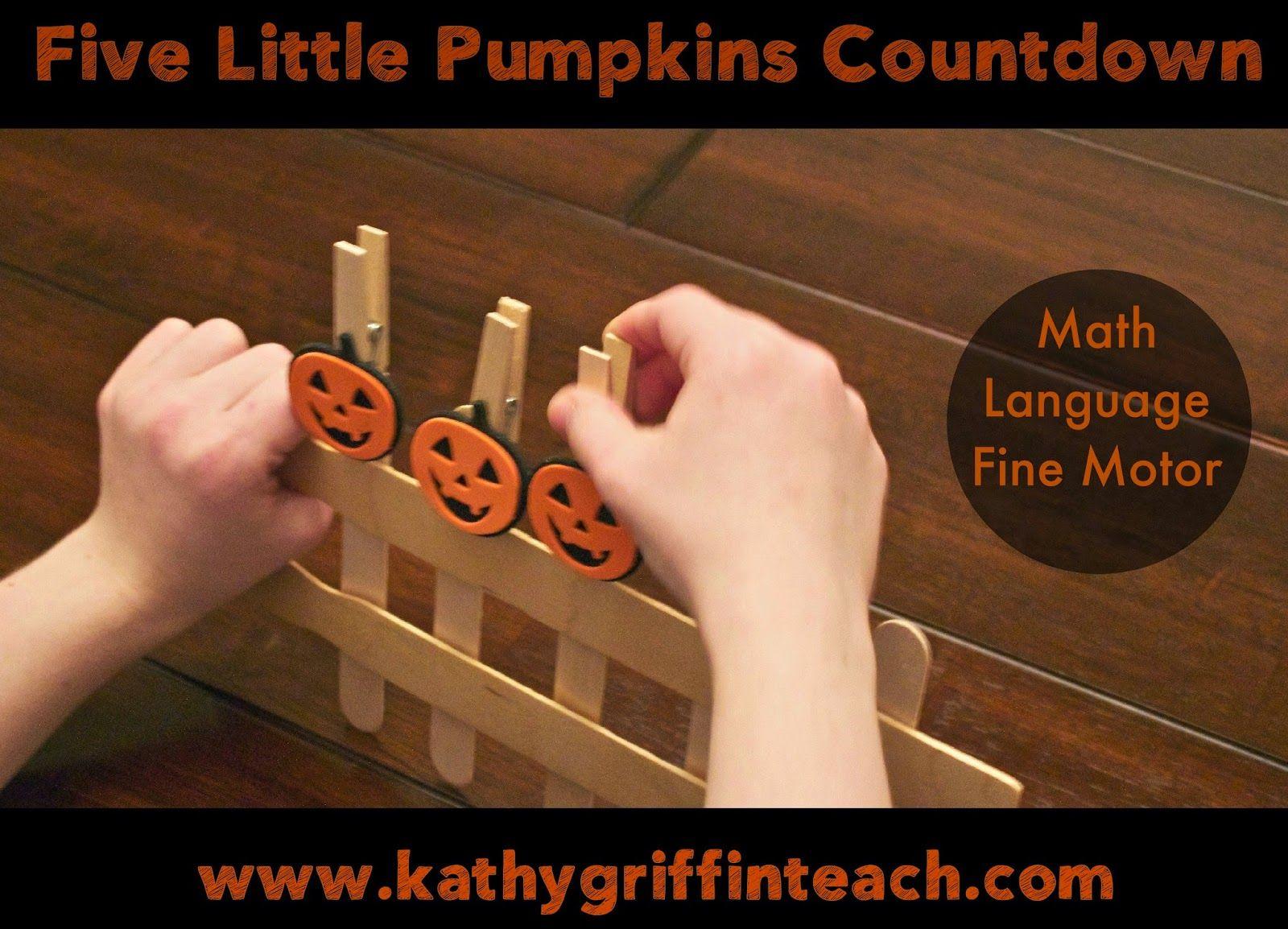 Kathy Griffin S Teaching Strategies Five Little Pumpkins
