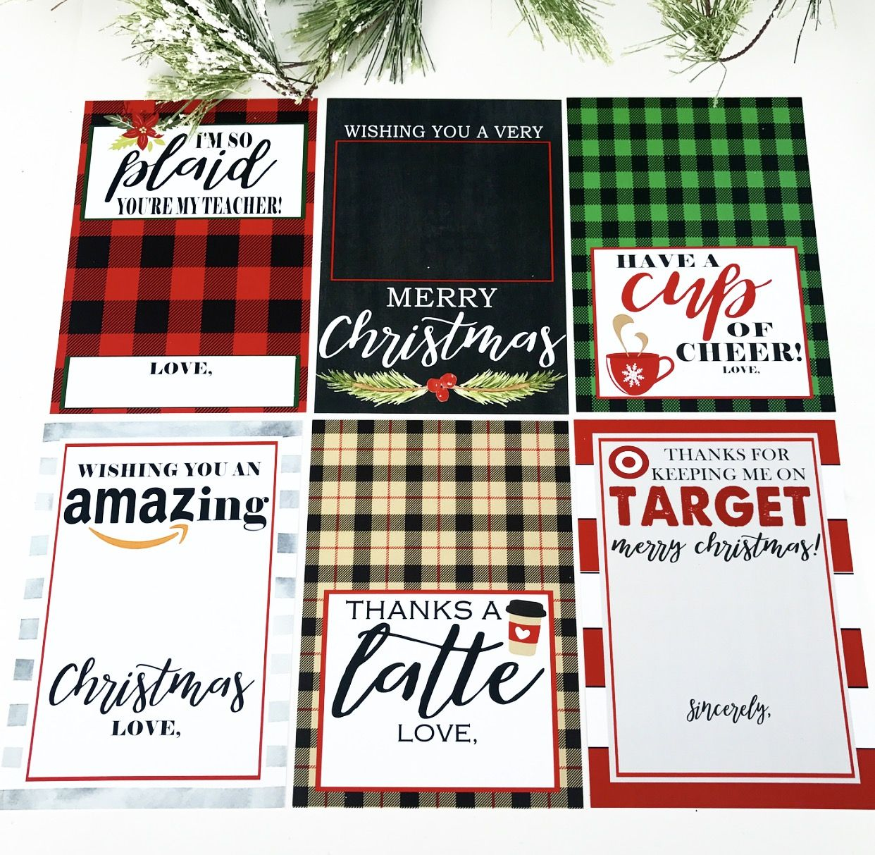 Christmas Gift Card Holder Free Printables - Crisp Collective