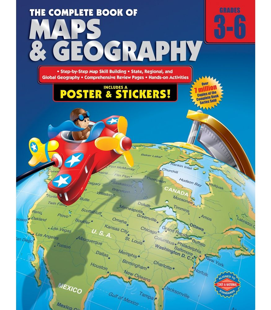 The Complete Book Of Maps And Geography Workbook Geography Map