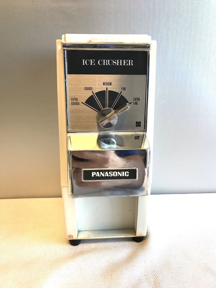 Panasonic Mk 285 Counter Top Ice Crusher Grinder Panasonic Ice